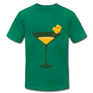 Green Bay Packer-tini american apparel tee - Men's T-Shirt by American Apparel