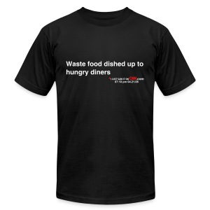 Waste food dished up to hungry diners - Men's Fine Jersey T-Shirt