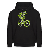 Hoodies ~ Men's Hoodie ~ Mountain Bike Hooded Shirt - Downhill Rider