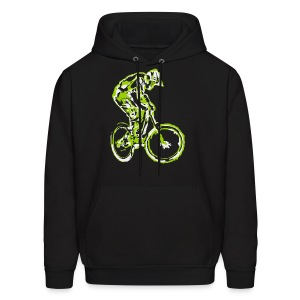 Mountain Bike Hooded Shirt - Downhill Rider - Men's Hoodie