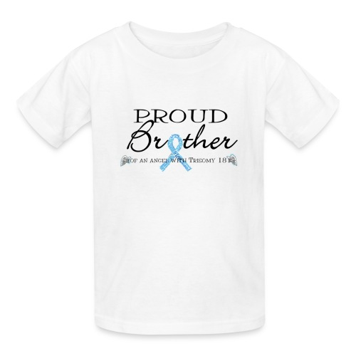 Proud brother of angel with T18 - Kids' T-Shirt