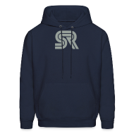 Hoodies ~ Men's Hoodie ~ sports racer - grey on blue