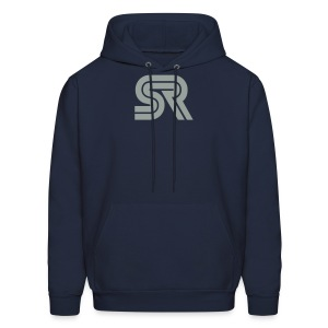 sports racer - grey on blue - Men's Hoodie