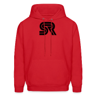Hoodies ~ Men's Hoodie ~ sports racer - black on red
