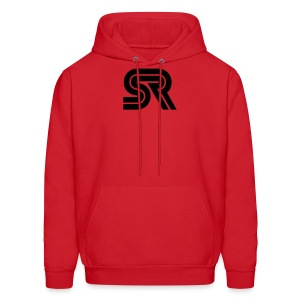 sports racer - black on red - Men's Hoodie