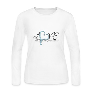 Love doesn't count Chromosomes - Women's Long Sleeve Jersey T-Shirt