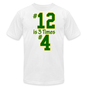 #12 is 3 times #4 - Men's T-Shirt by American Apparel