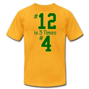 #12 is 3 times #4 - Men's Fine Jersey T-Shirt