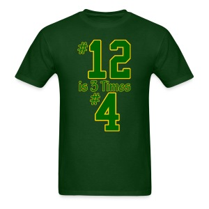 #12 is 3 times #4 - Men's T-Shirt