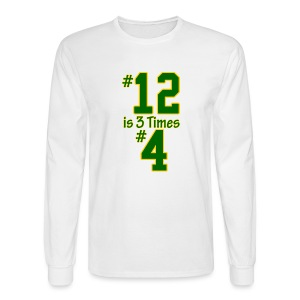 #12 is 3 times #4 - Men's Long Sleeve T-Shirt