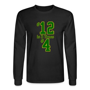 #12 is 3 times #4 - Men's Long Sleeve T-Shirt