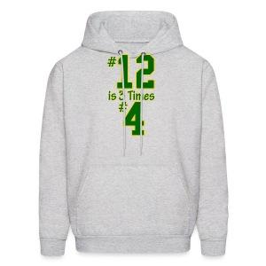 #12 is 3 times #4 - Men's Hoodie