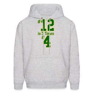 #12 is 3 times #4 - Men's Hoodie