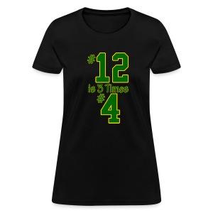 #12 is 3 times #4 - Women's T-Shirt