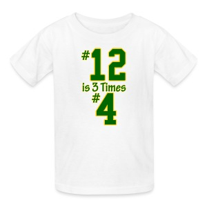 #12 is 3 times #4 - Kids' T-Shirt
