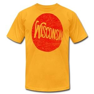Vintage Wisconsin Circle - Men's Fine Jersey T-Shirt
