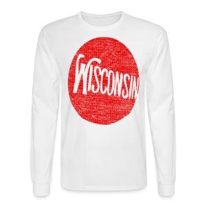 Vintage Wisconson Circle - Men's Long Sleeve T-Shirt