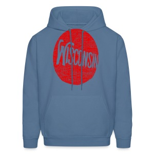 Vintage Wisconson Circle - Men's Hoodie