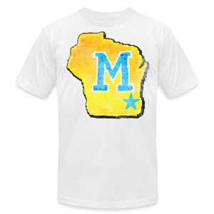 Vintage M Wisconsin - Men's T-Shirt by American Apparel