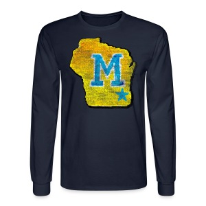 Vintage M Wisconsin - Men's Long Sleeve T-Shirt
