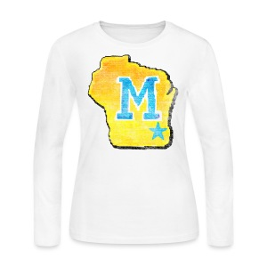 Vintage M Wisconsin - Women's Long Sleeve Jersey T-Shirt