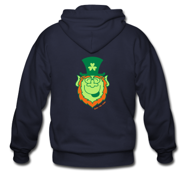 St Paddy's Day Leprechaun Laughing Zip Hoodies/Jackets