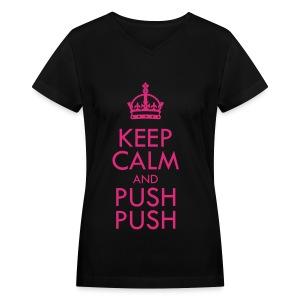 [SISTAR] Keep Calm & Push Push - Women's V-Neck T-Shirt