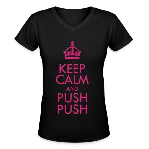 [SISTAR] Keep Calm & Push Push - Women's V-Neck T-Shirt