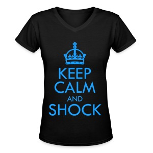 [B2ST] Keep Calm & Shock - Women's V-Neck T-Shirt