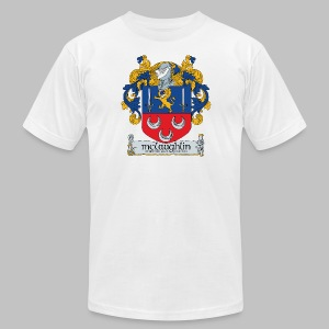 McLaughlin Coat of Arms - Men's T-Shirt by American Apparel