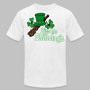 Kiss me Shillelagh - Men's T-Shirt by American Apparel