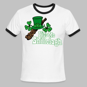 Kiss Me Shillelagh - Men's Ringer T-Shirt