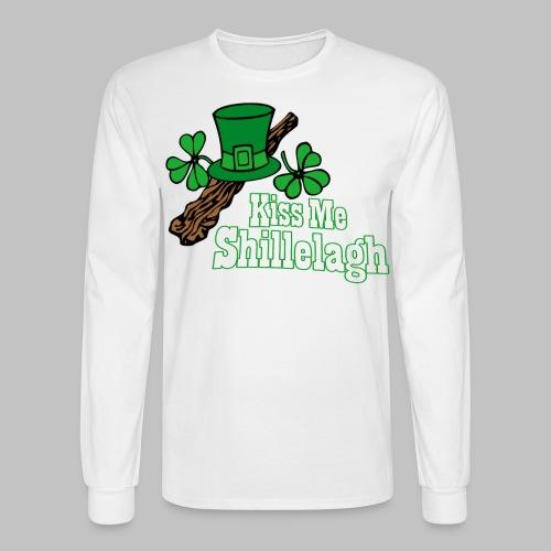 Kiss Me Shillelagh - Men's Long Sleeve T-Shirt