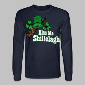 Kiss Me Shillelagh - Men's Long Sleeve T-Shirt