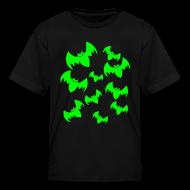 Kids' Shirts ~ Kids' T-Shirt ~ Halloween Neon Bats - Child Size