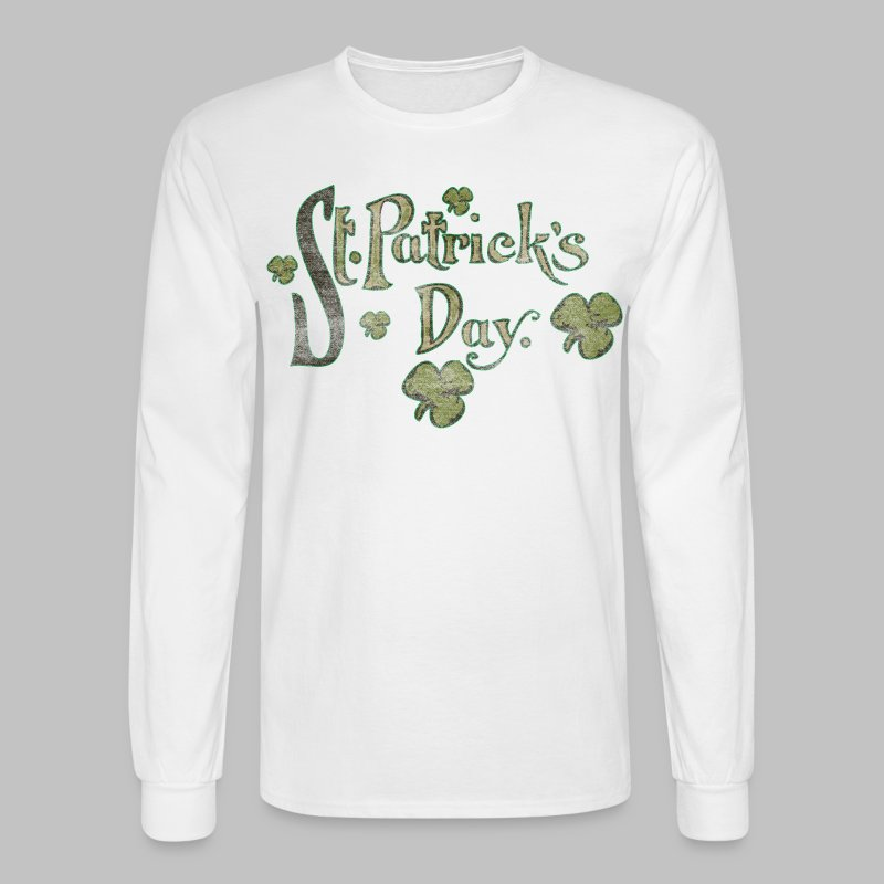 Vintage St. Patrick's Day - Men's Long Sleeve T-Shirt