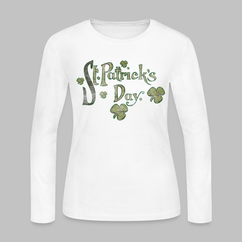Vintage St. Patrick's Day - Women's Long Sleeve Jersey T-Shirt