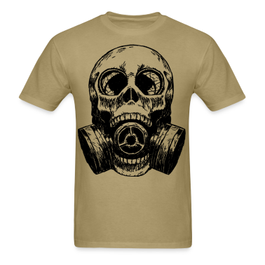 Skull Mask gas mask white T-Shirts