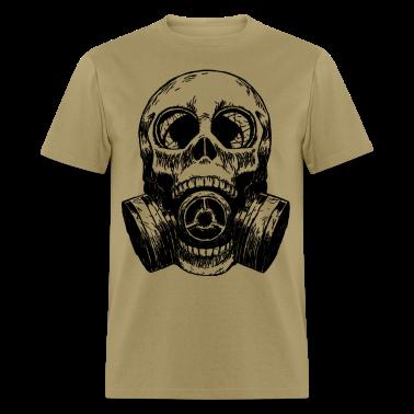 Skull Mask gas mask white T-Shirts