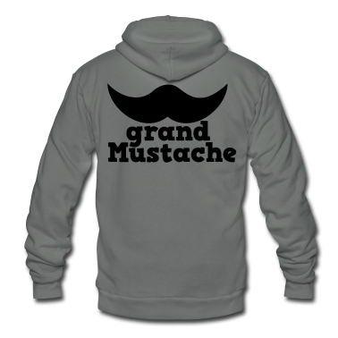 grand mustache  Zip Hoodies/Jackets