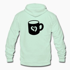 Hot chocolate cup i love  coffee! Zip Hoodies/Jackets