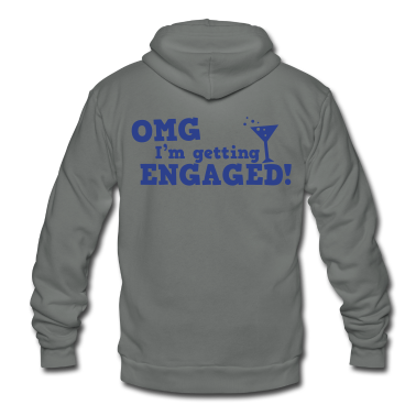 omg im getting engaged with coaktail glass marriage Zip Hoodies/Jackets