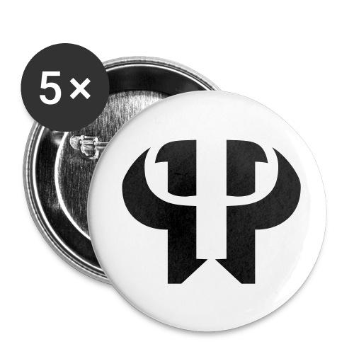 double p logo buttons | piledriver productions