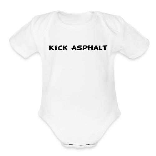 Kick Asphalt - Organic Short Sleeve Baby Bodysuit