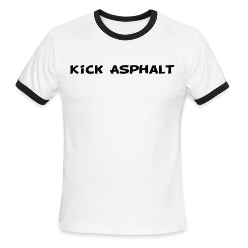 Kick Asphalt - Men's Ringer T-Shirt