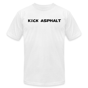 Kick Asphalt - Men's T-Shirt by American Apparel