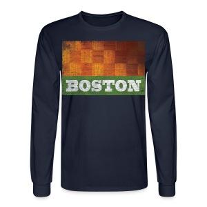 Old Boston Parquet - Men's Long Sleeve T-Shirt