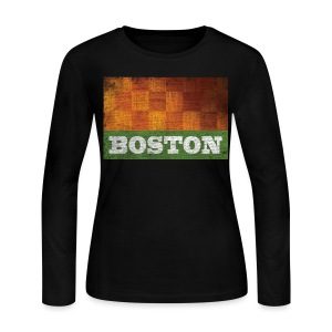 Old Boston Parquet - Women's Long Sleeve Jersey T-Shirt