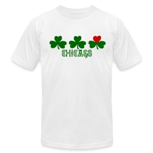 Chicago Shamrock Heart - Men's T-Shirt by American Apparel