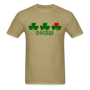 Chicago Shamrock Heart - Men's T-Shirt